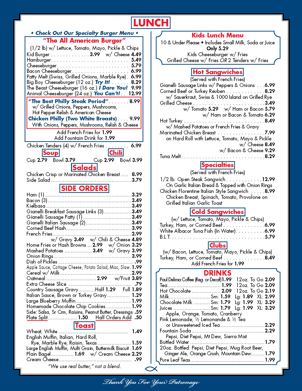 picture relating to Printable Menus identified as Menu - American Diner Serving Liverpool and Syracuse, NY